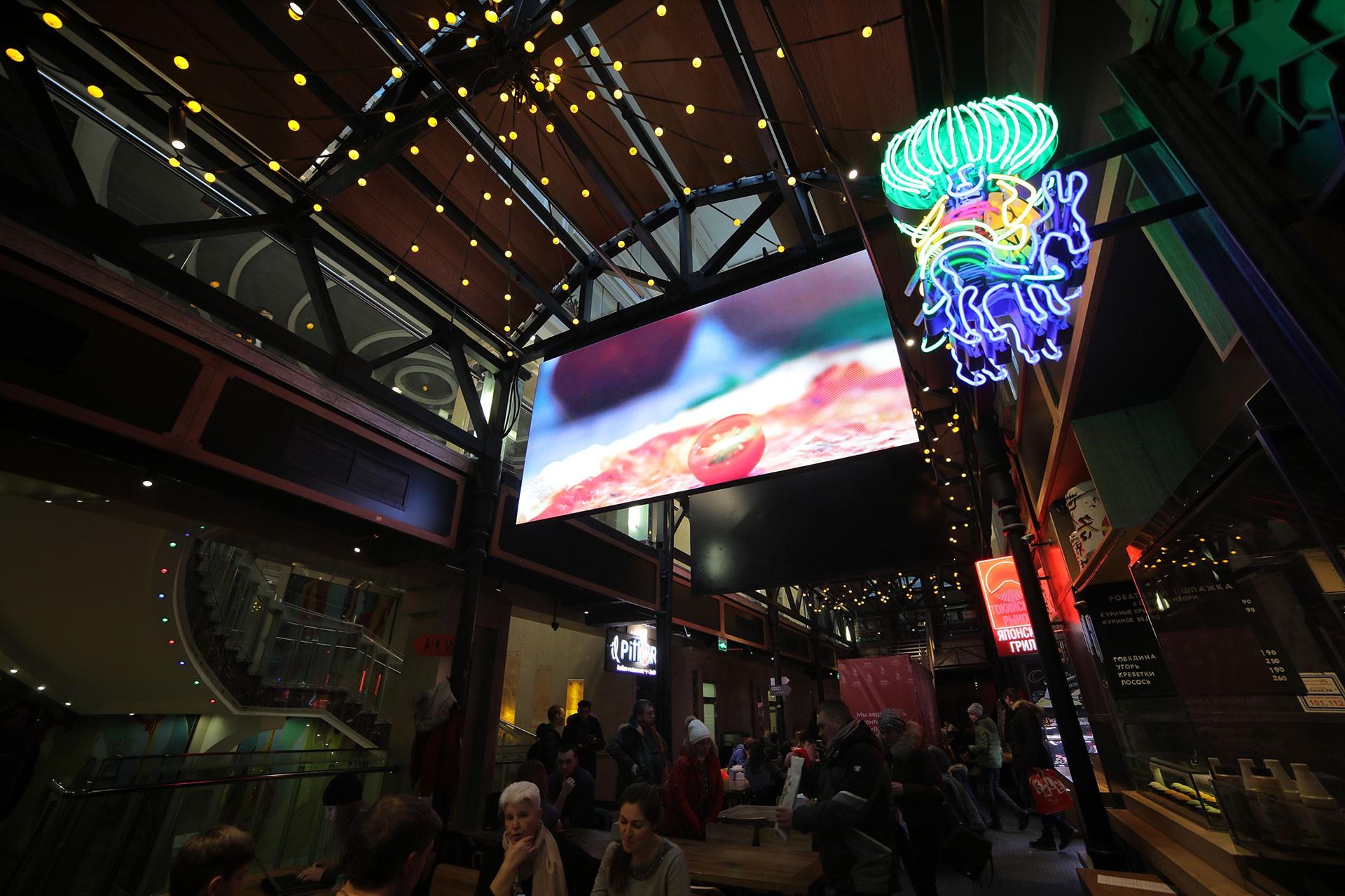 LED-экран для гастромаркета «Вокруг Света»